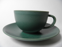24h Tea Cup and Saucer green