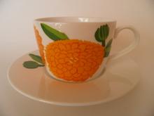 Primavera -kahvikuppi ja aluslautanen  Oranssi