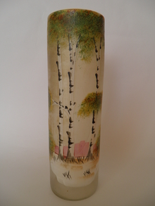 Vase handpainted old