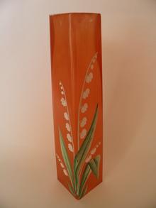 Maalattu maljakko oranssi