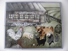 Happy Animals Wall Plate HLS