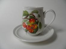Pomona Portmeirion small Coffee Cup and Saucer Cherry