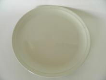 Oliivi -matala ruokalautanen valkoinen