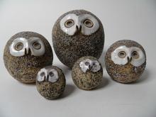 Owls 5 pcs Kaarina Aho