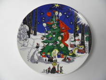 Moomin Christmas  Wall Plate large Arabia STOLEN