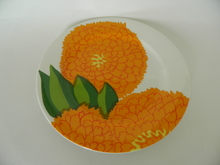 Primavera Plate 19,7 cm Orange Iittala