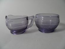 Sugar bowl and creamer small