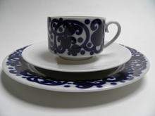 Josefiina kahvikuppi ja 2 lautasta Arabia MYYTY