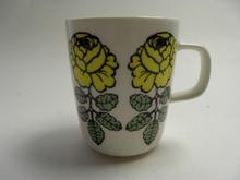 Vihkiruusu Mug yellow Marimekko