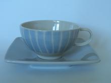 Sininen Inkivääri Teekuppi ja aluslautanen Pentik
