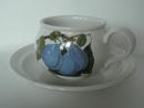 Pomona Portmeirion kahvikuppi ja aluslautanen vaalea luumu MYYTY