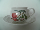 Pomona Portmeirion Coffee Cup & Saucer Peach