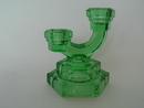 Candleholder green Art deco Riihimäen lasi