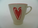 Mug red Heart Pentik