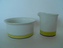 Faenza Sugar Bowl and Creamer yellow