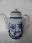 Singapore Coffee Pot blue