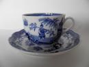 Singapore kahvikuppi ja aluslautanen sininen Arabia