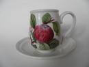 Pomona Portmeirion pieni kahvikuppi ja aluslautanen Omena