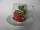 Pomona Portmeirion pieni kahvikuppi ja aluslautanen Punaherukka MYYTY