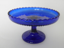 Serving Plate footed cobalt