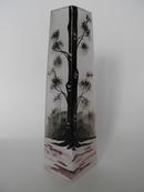 Vanha maalattu musta-valkoinen maljakko MYYTY