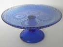 Grapponia footed Serving Plate blue