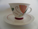 Harlekin Carneval Coffee Cup and Saucer Arabia