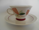 Harlekin Carneval Tea Cup and Saucer Arabia
