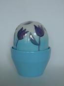 Flower Pot Blue Tulip