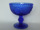 Grapponia Footed Serving Bowl blue