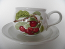 Pomona Portmeirion Tea Cup and Saucer dark Cherry