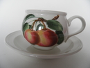 Pomona Portmeirion Tea Cup and Saucer Pearl