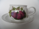 Pomona Portmeirion Tea Cup and Saucer dark Plum