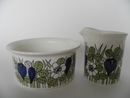 Krokus sokerikko ja kermakko Arabia Sugar Bowl and Creamer SOLD OUT
