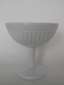 Kara Footed Bowl milk glass