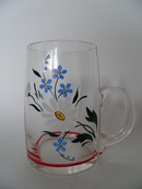 Glass Pint Handpainted
