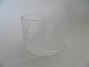 Flora Dessert Bowl clear glass