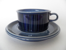 Kosmos Tea Cup and Saucer blue Arabia SOLD OUT