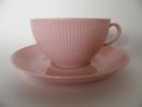 Sointu teekuppi ja aluslautanen roosa Arabia