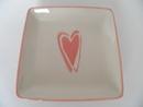 Plate Heart pink Pentik