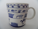 Birds Blue Mug Oiva Toikka Arabia