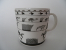 Birds Grey Mug Oiva Toikka Arabia