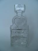 Piironki Vase clear glass Helena Tynell