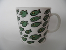 Fishes Mug green Tony Alfström
