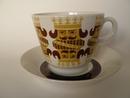 Korttipakka kuninkaalliset kahvikuppi ja aluslautanen Arabia MYYTY