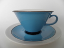 Harlekin Turquoise Tea Cup and Saucer Arabia