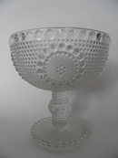 Grapponia Footed Serving Bowl clear glass