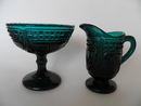 Creamer and Sugar Bowl dark turquoise SOLD OUT