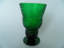 Fauna Footed Wine Glass green