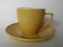 Olive Coffee cup and Saucer yellow